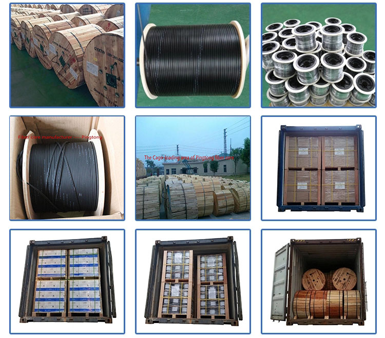 Manufacturer 24 Core Steel Wire Strength Member Sm Duct Fiber Optic Cable Gyts Price Per Meter