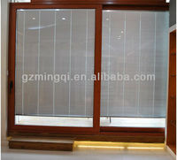 patio double glass sliding glass door with blinds