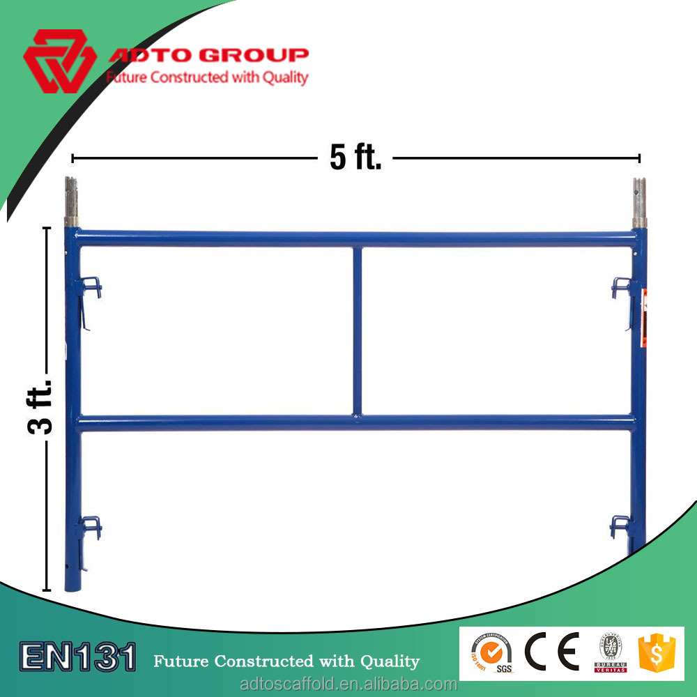 Q235 American Standard Steel H type Scaffolding Frame for sale with size of 5'*3'