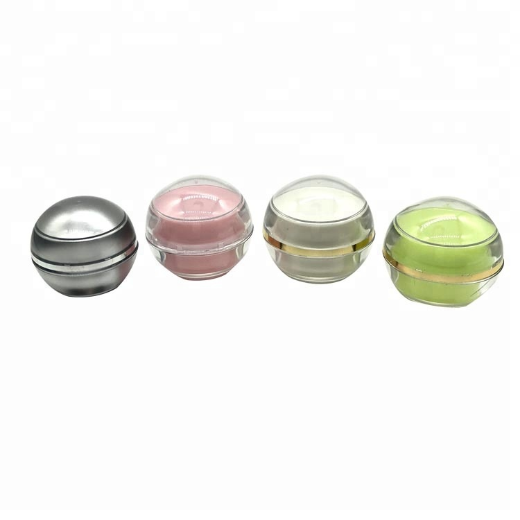 Mini 5g ball shaped cream / small plastic boxes / empty cosmetic cream container