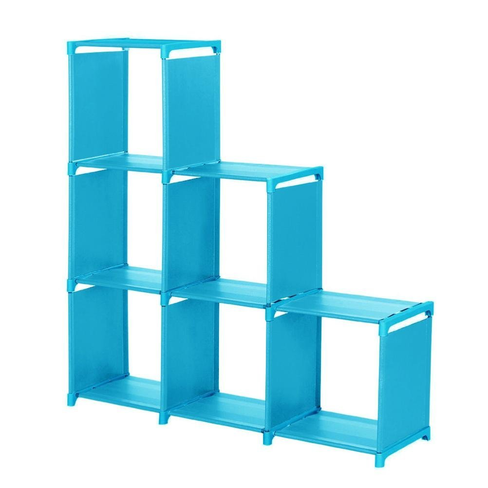 Get Quotations · Storage Cabinet, HOOHI 3 Tier Multipurpose Shelf  Space Saving Storage Cube Closet Organizer