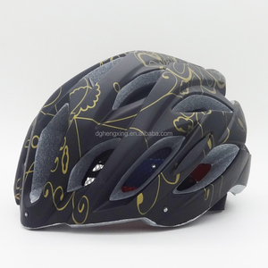 Black color bicycle safety helmet made by Hengxing factory helmet moulding machine