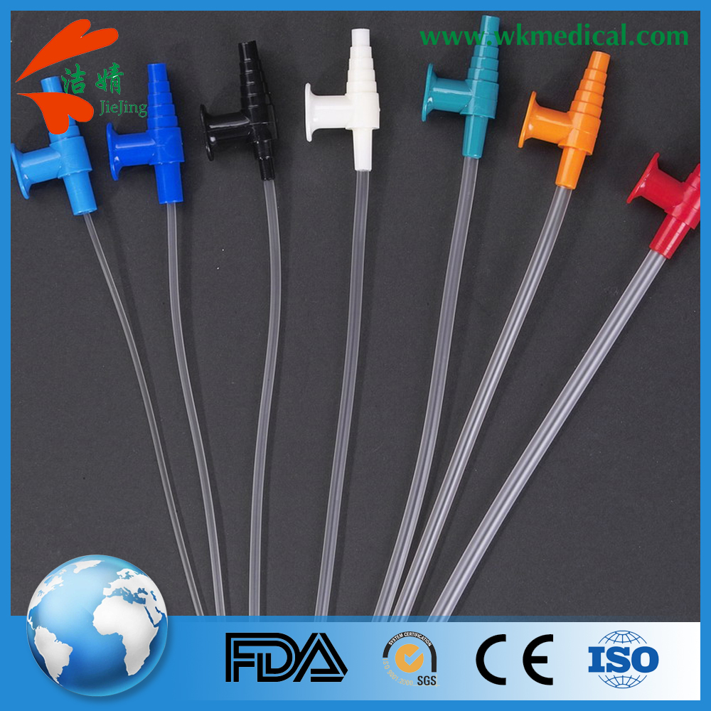 single pack four types connectors control valve FR 18,16,14 sizes suction catheter distal end with two eyes for adults use only