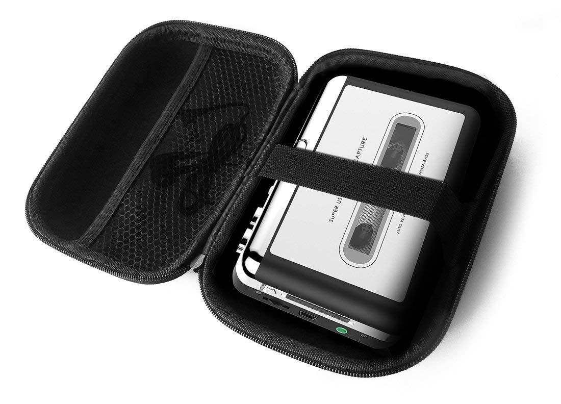 FitSand Hard Case for Dansrue Portable USB Cassette Player Tape to MP3 Converter Recorder