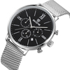 china factory watch stainless steel mesh strap chronograph watch