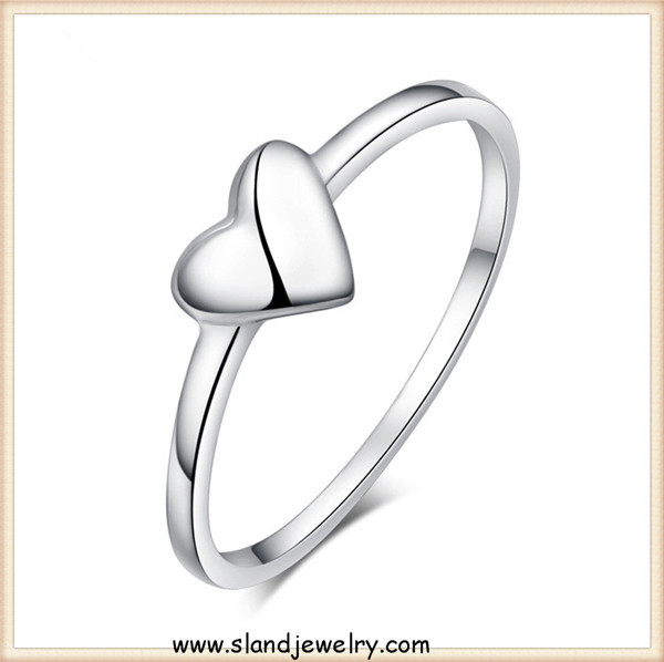 Finest Latest 925 Silver Heart Shaped Ring Designs Wedding Ring For Girl  RQ15