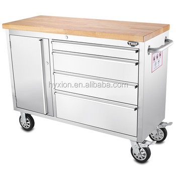 48 Thor Stainless Steel Tool Box Roller Cabinet Tool Chest With