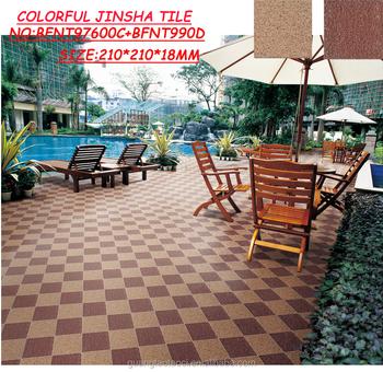 Thickness18mm Bunte Jinsha Fliesen Garten Bodenbelage Rutschfestem