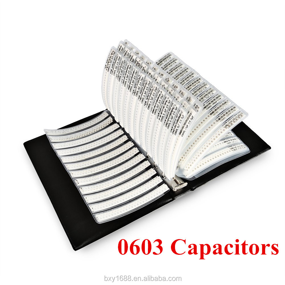 [4500 PCS][0603] Capacitor (0.5pF-2.2uF) 90 Values SMD Capacitors Combo Sample Book