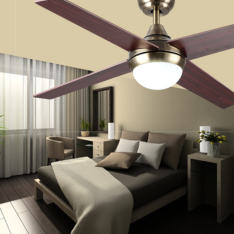Indoor Decorative Electric LED Fan Remote Control Ceiling Fan With Light