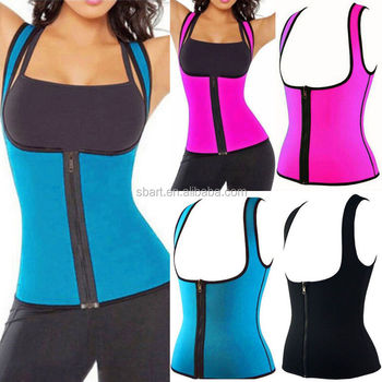 28574d3826b60 Hot Thermo Sweat Neoprene Body Shaper Slimming Waist Trainer Cincher Yoga  Vest