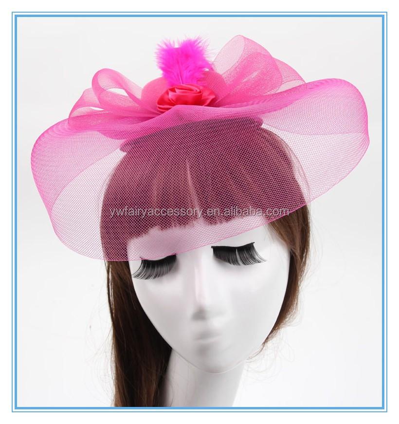 Fashion Women Party Feather Fascinator Hat Black Fascinator Hat Plain  Wholesale 213e6db3b86