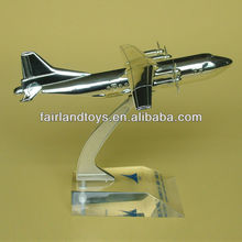 electroplate metal craft airplane model