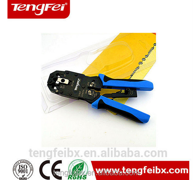 stripping,cutting,crimping 3 in 1 crimping tools ratchet type with round cable stripper