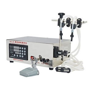 Double Heads Digital Control Pump Liquid Bottle Filling Machine