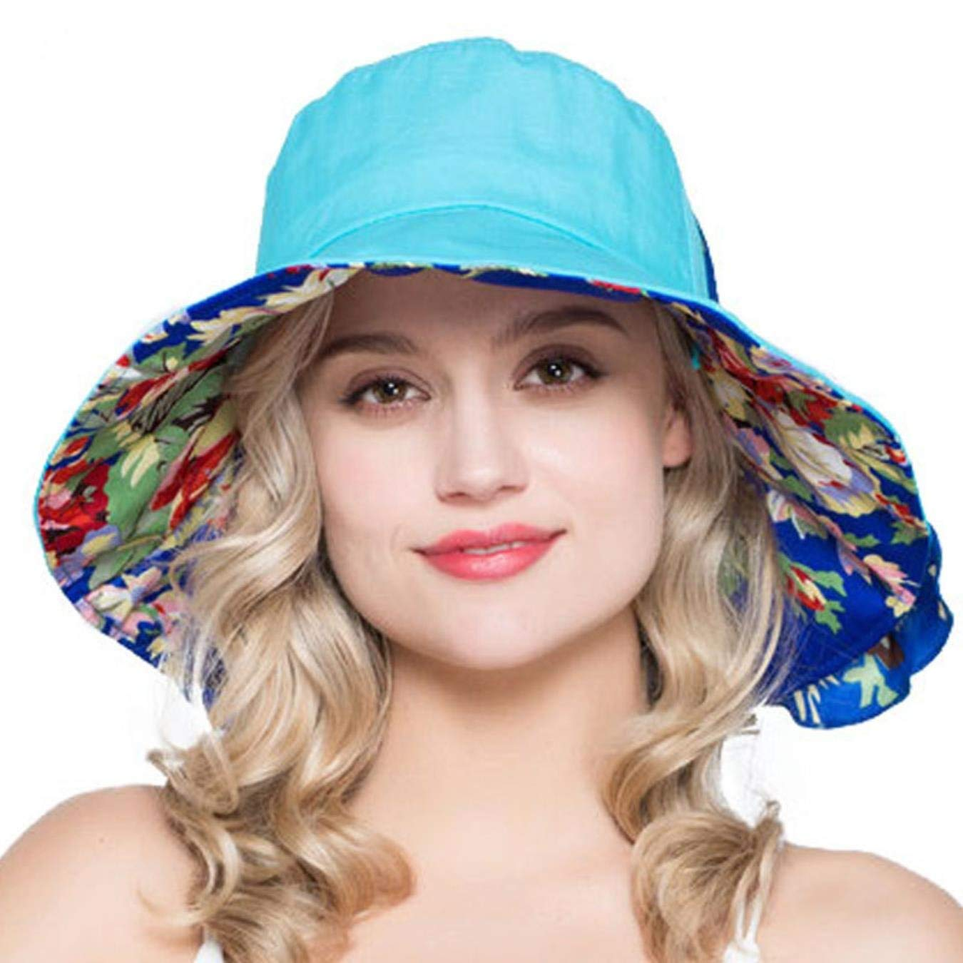 db0bb455d16 Get Quotations · Fashion Hats Ladies Summer Wide Brim UV Sunhat Women Hats  for Beach Holidays Floppy Sun Hats