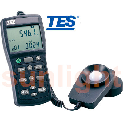 TES-1339R Professional Light Meter Integral Illuminance/Luminous Intensity Counter with RS232 Datalogger