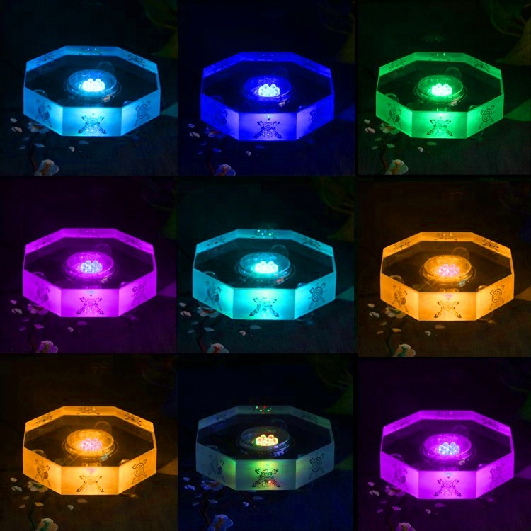 Wholesale Square Round Multi Color Led Bluetooth music Crystal glass wooden Light Lamp Base stand for birthday gift Decoration