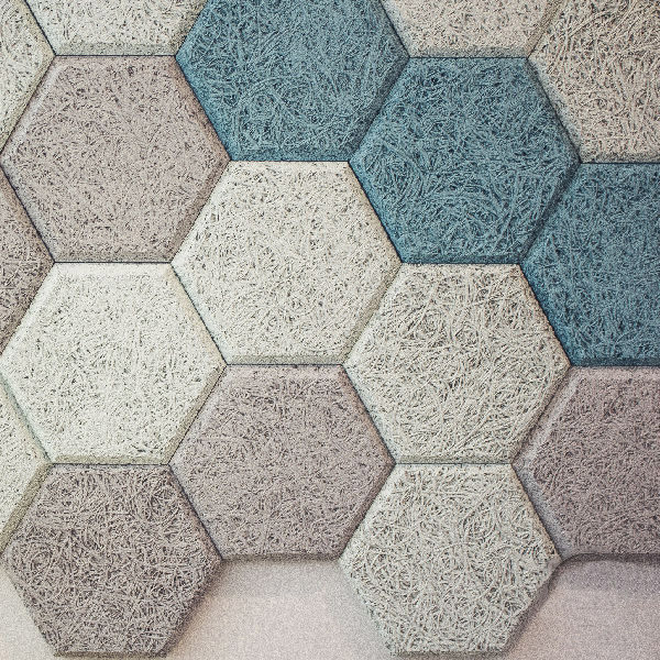 Hexagon sound proofing acoustic panel wood fiber acoustic board