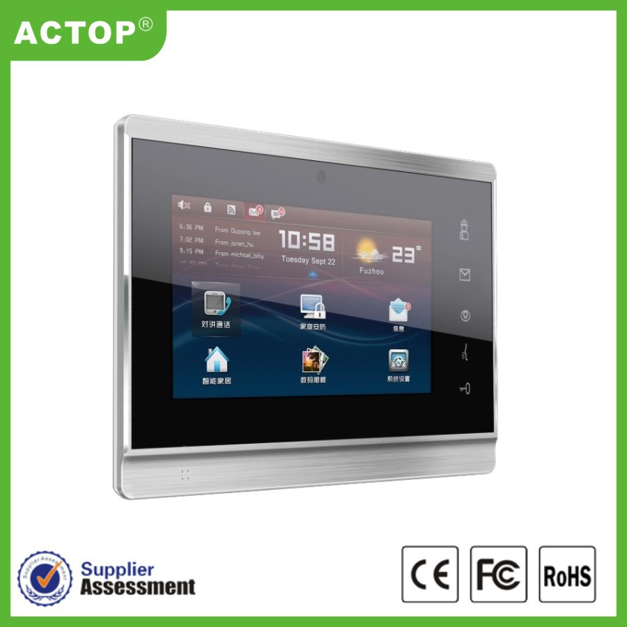 China Smart Home Touch Screen Ip Door Phone Digital