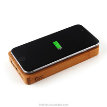 portable charger real wooden power bank wireless charger with CE certificate