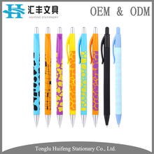Good quality school supply cheap promotional bulk plastic ballpoint pen with personalized logo