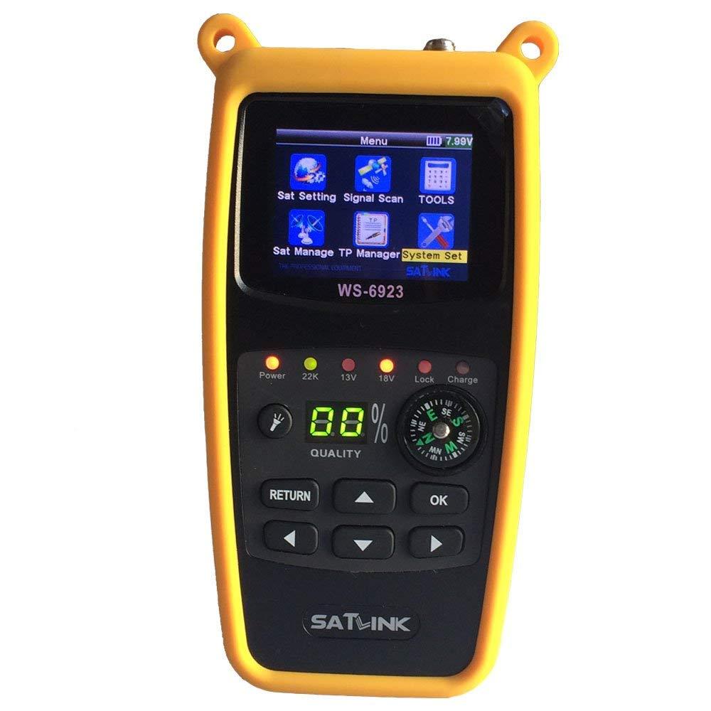 SATLINK WS-6923 DVB-S2 2.4 Inch LCD Digital Satellite Meter Finder FTA QPSK with Compass