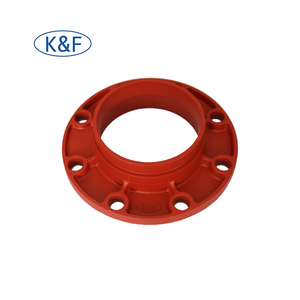 Ductile casting iron grooved flange adapter for Fire Fighting Pipeline