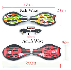 Kid's 2 wheels street surfing drifting skateboard rip stick snake board waveboard