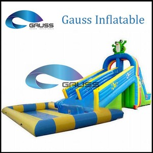High quality custom slip n slide inflatable/commercial inflatable water slide for adults