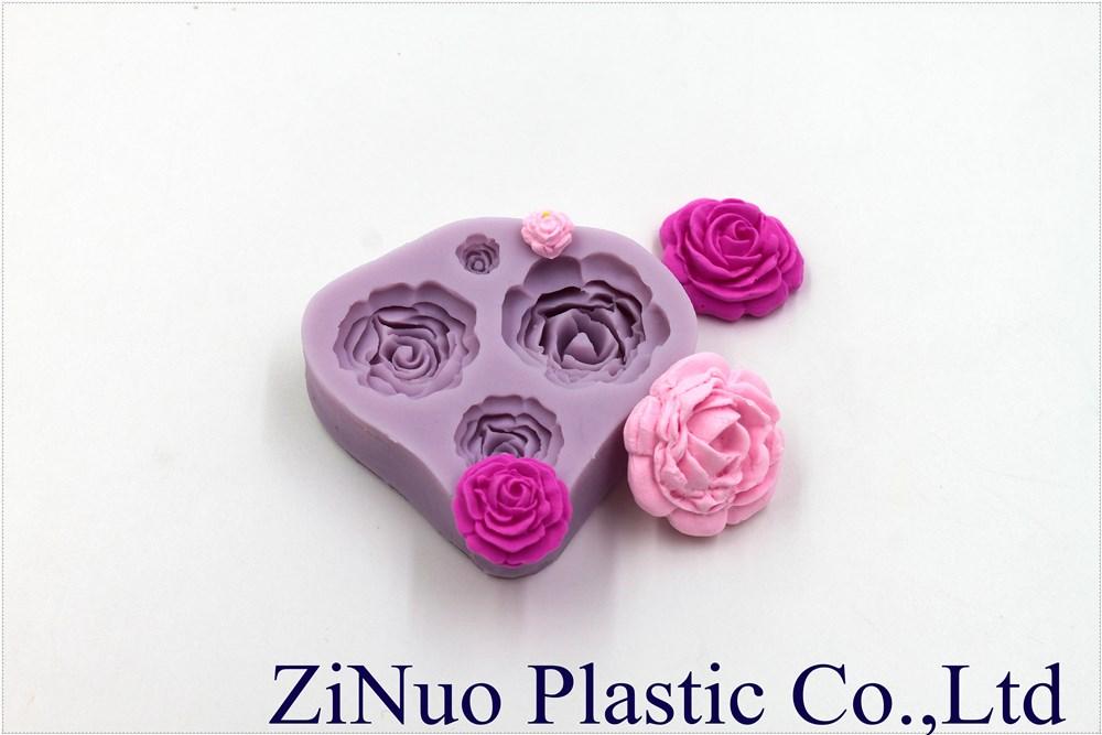 Mooie roos vorm fondant mallen cake decorating gereedschap mooie roos vorm siliconen mallen chocolade cakevorm