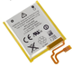 3.7V Li-ion Battery 330mAh for iPod Nano 7