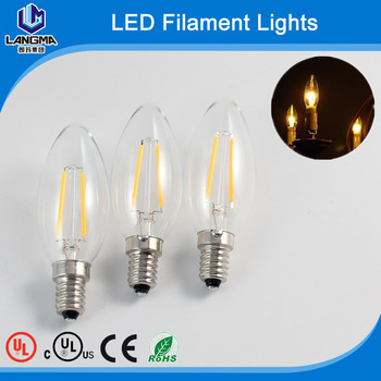 custom filament bulb light c35 e12 led filament 1800k - E12 Led Bulb