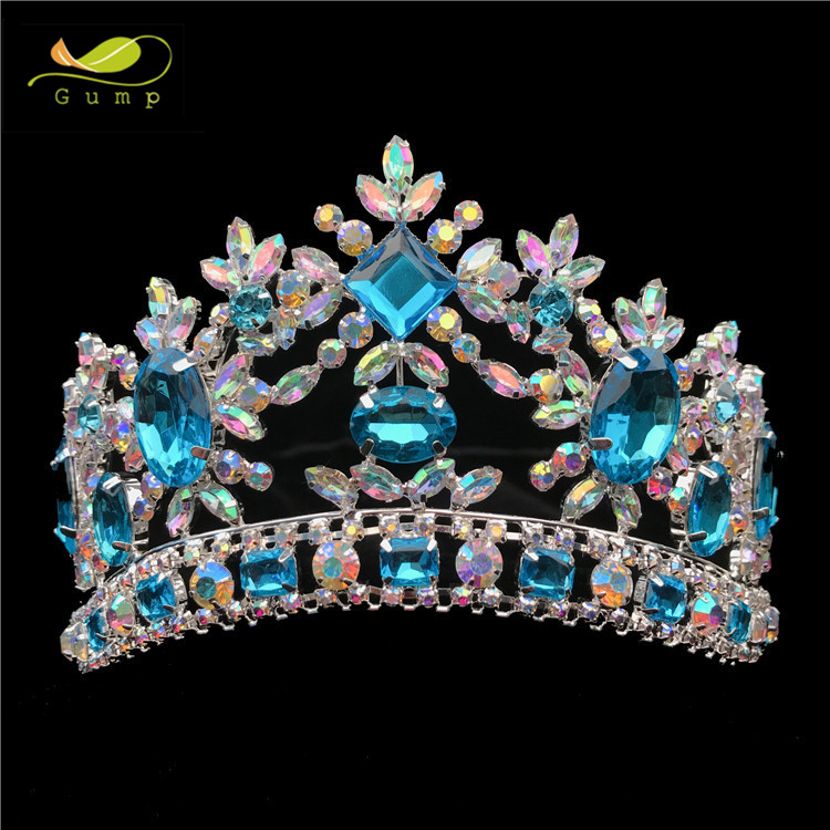 "Set 3.5/""Tall. Crystal Rhinestones Sweet 15 Silver-Blue Tiara /& Scepter.Tiara"