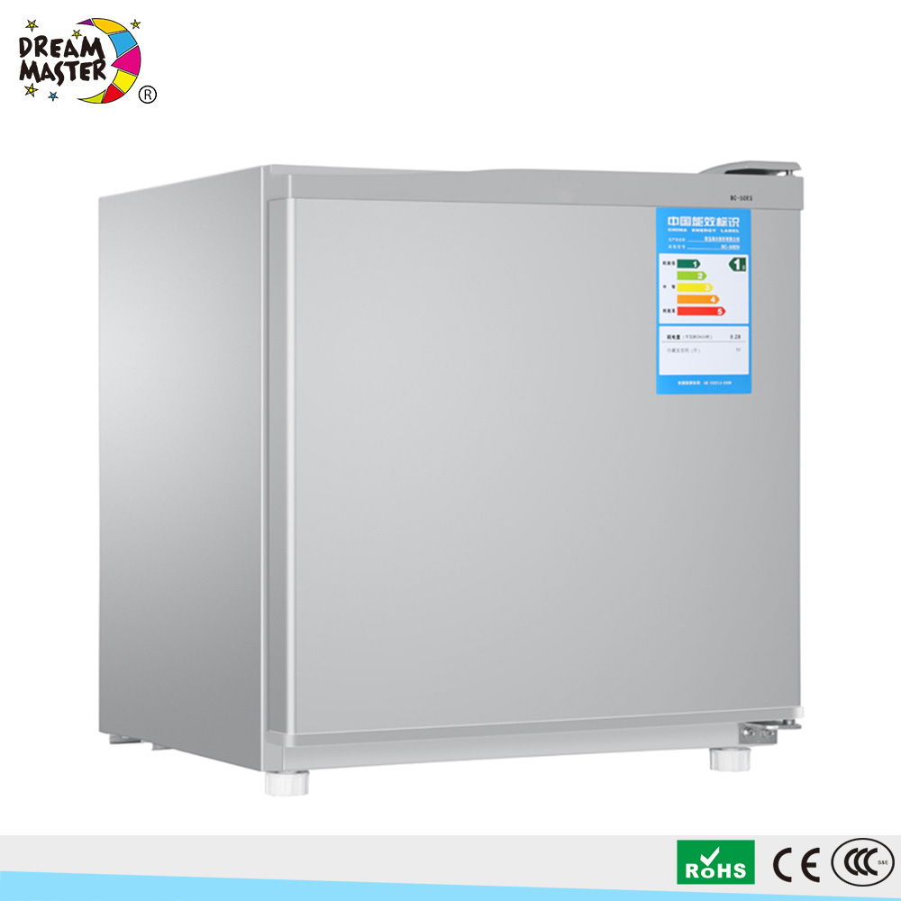 Hot 50L Silver Gray Color Refrigerate Only Mini Refrigerator