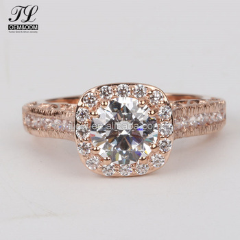 2018 Diamond Wedding Rings Yellow Gold Dubai Gold Engagement Rings