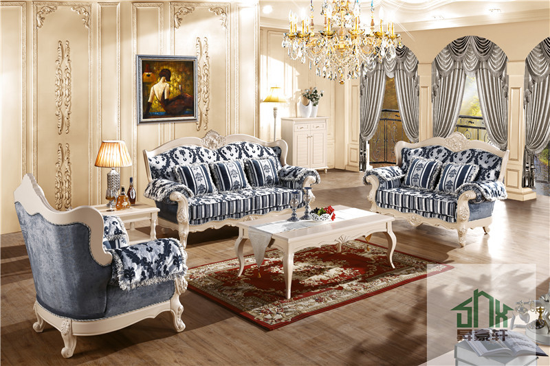 Chinese Wood Living Room Furniture Design Chesterfield Sofa Set Hb