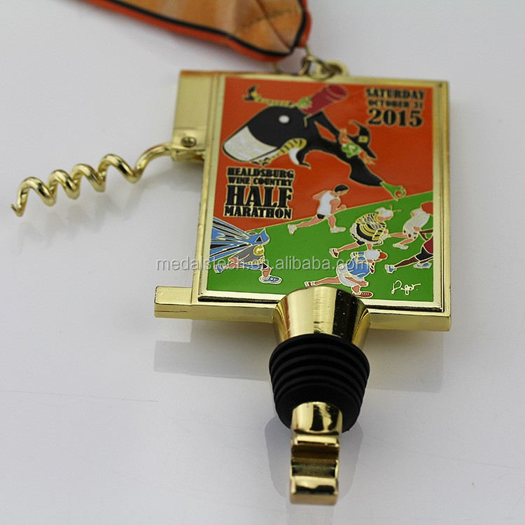 Professional  China supplier souvenir craft health couple family public welfare run custom metal medal