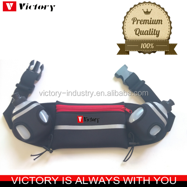 Water bottles running hydration belt in neoprene material