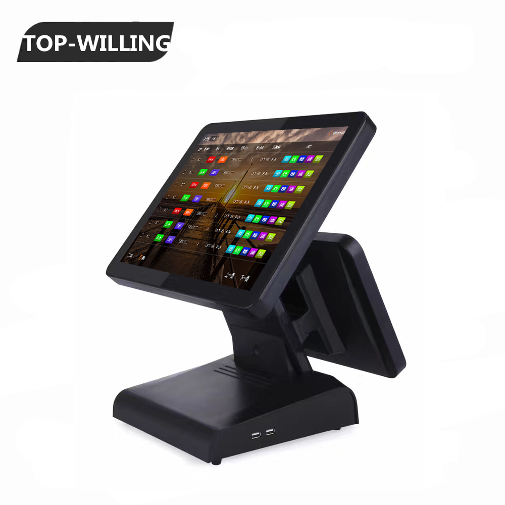 15'' Capacitive Touch Screen POS System 4GB+64GB 12 inch LCD Screen Customer Display POS Terminal