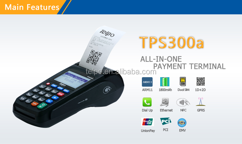 POS Terminal TPS300a linux 58mm mini portable thermal printer
