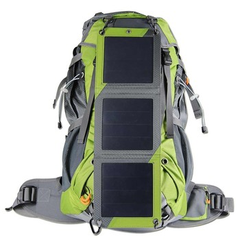 nylon material and external frame type solar hiking backpack - External Frame Hiking Backpack