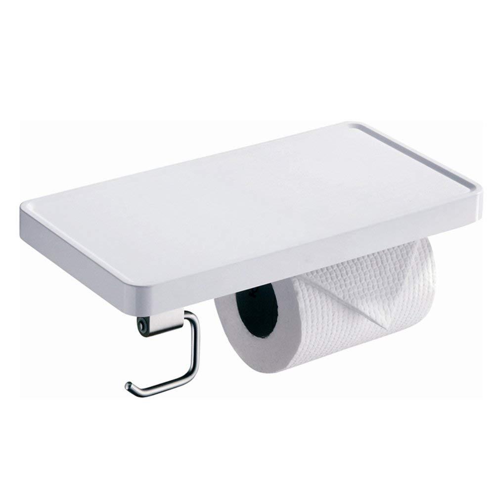 Paper Towel Dispenser,Bathroom Paper Holder,Paste Toilet Paper Holder Stainless Steel Toilet Paper Shelf Punch-Free Paper Towel Racks Send Non-Drilling Glue-A 25x12.5cm(10x5inch)