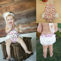 Baby girl clothes with flower baby romper sewing pattern in high quality