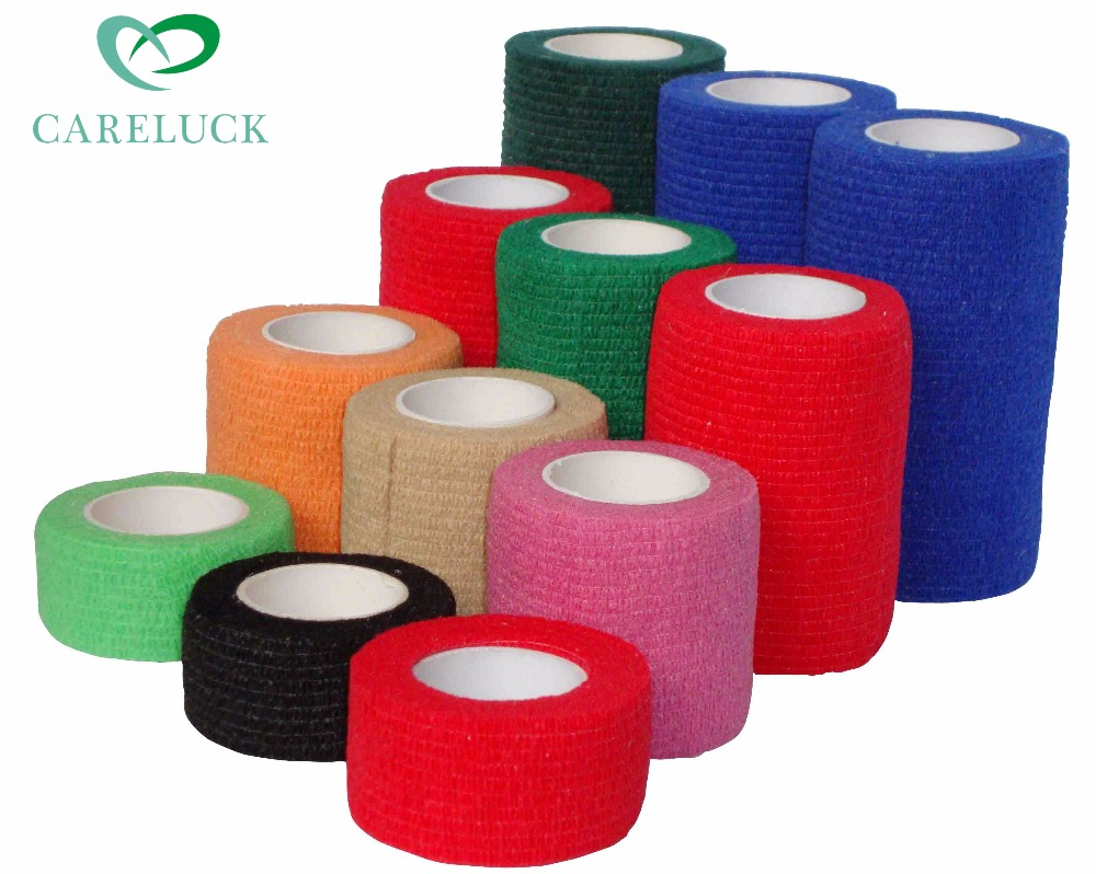 Custom Colored Medical Nonwoven Self Adhesive Elastic Bandage Wrap With Different Printed Design Buy Elastic