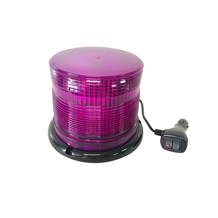 DC12V 24V 60W rotating strobe led beacon light purple for car truck vehicle