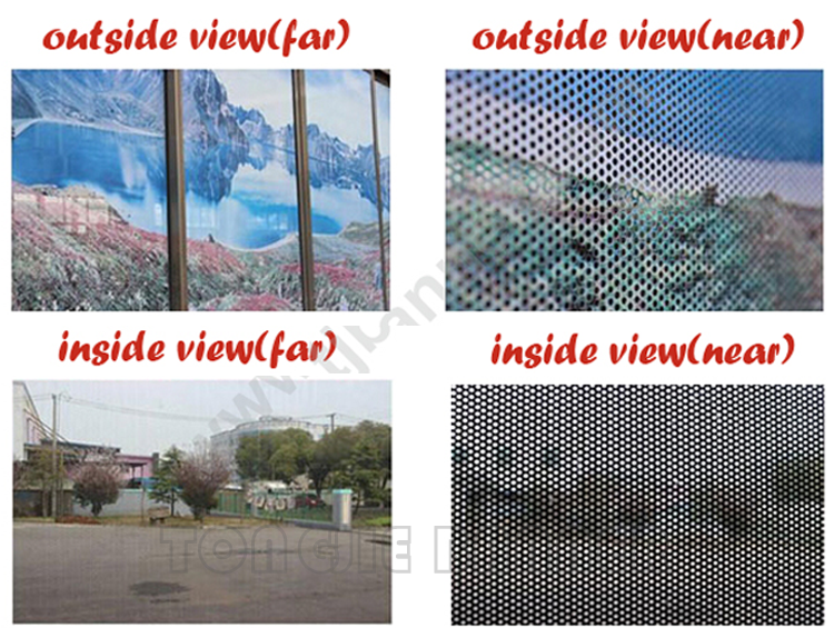 Wholesale waterproof one way vision vinyl fence