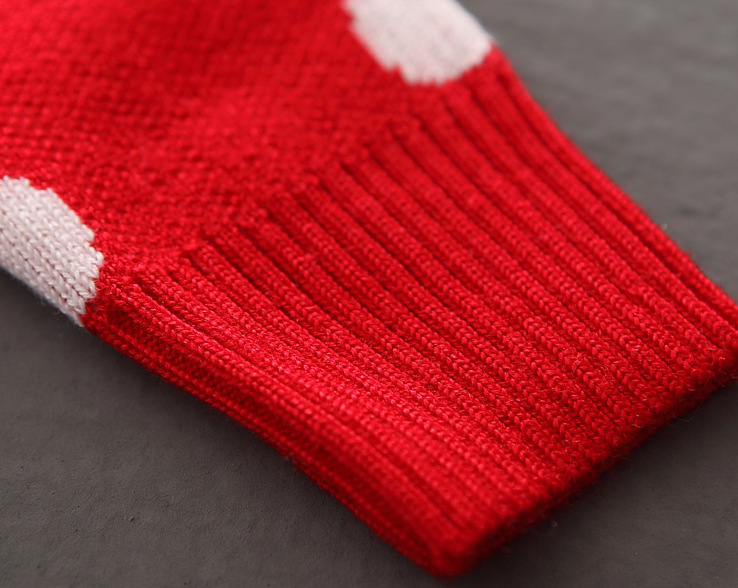 New design baby girl spotted chirstmas sweaters wholesale woolen fashion knitting  patterns for baby sweaters (