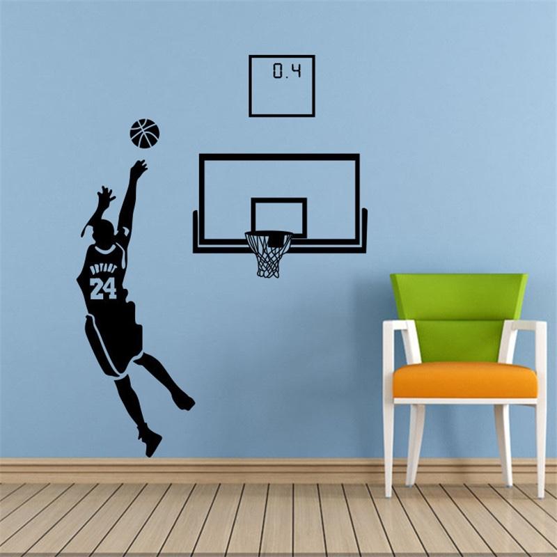 Diy Graphic Vinyl Wall Sticker Of Kobe Bryant Portrait For