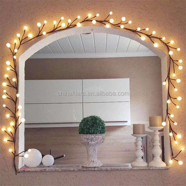 Best Selling 6ft LED Lighted Twig Garland Brown Wrapped Lighted Willow Vine